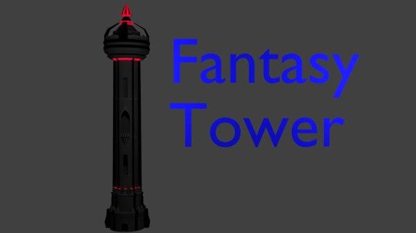 3D fantasy tower