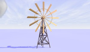3D origami windmill