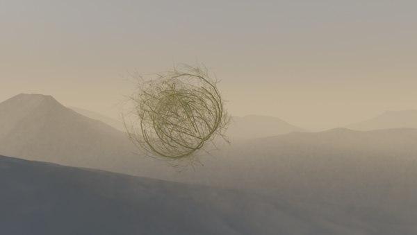 3D desert tumbleweed model