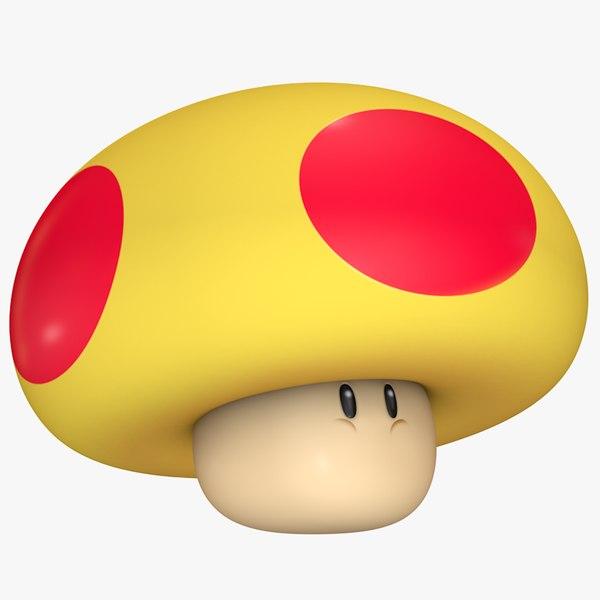 3D mega mushroom super mario model