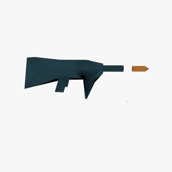 gun bullet 3D model
