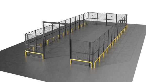 3D industrial fence model