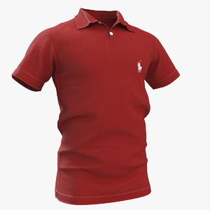 polo shirt red 3D