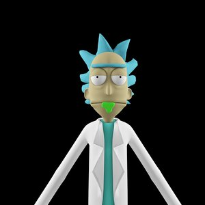 rick sanchez 3D model