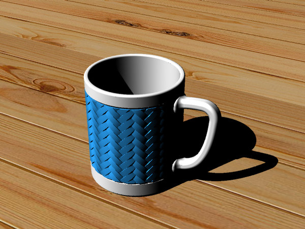 coffee cup woven bamboo model
