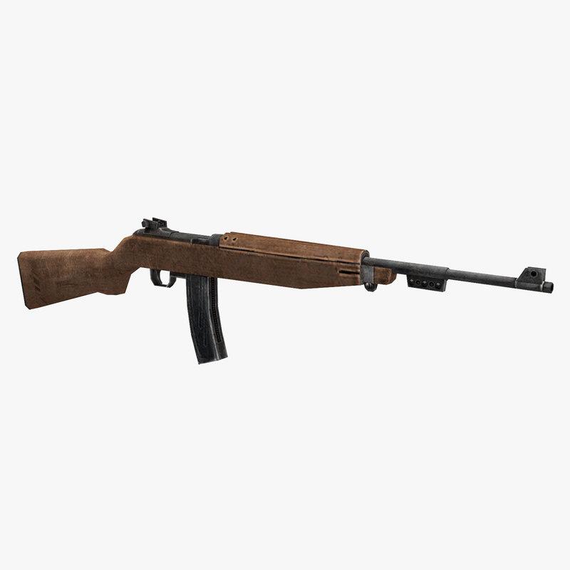 m2 carbine 3D model