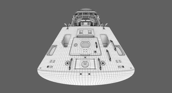 3D model apollo landing module