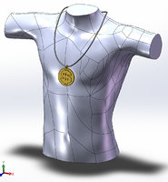 3D jewelry prop model