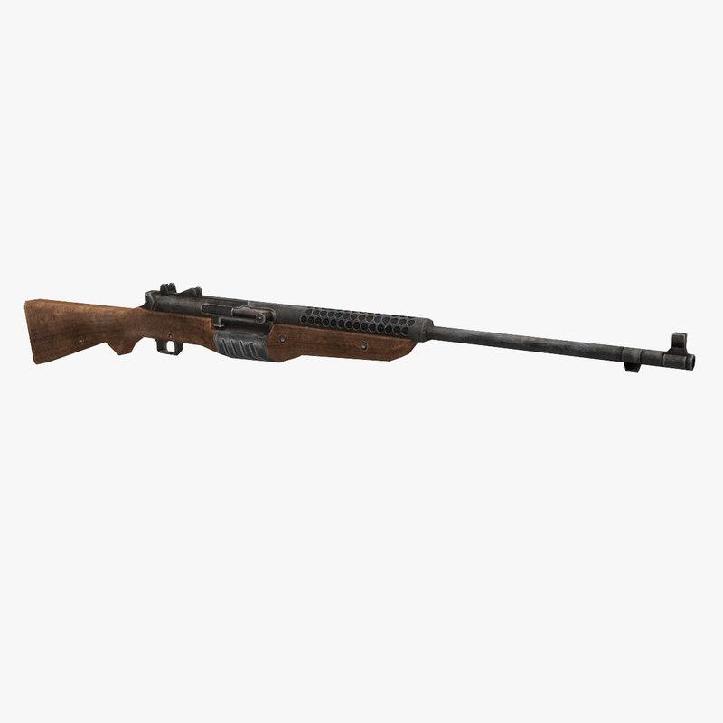 johnson rifle gun 3D model