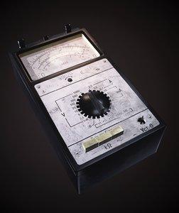 3D old multimeter