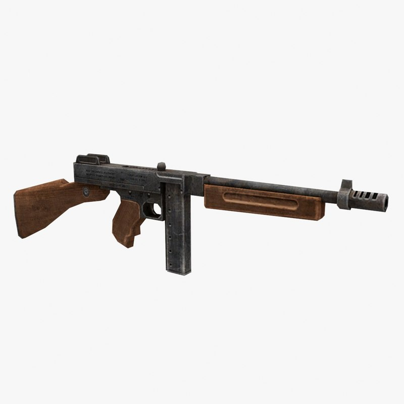 3D thompson gun model