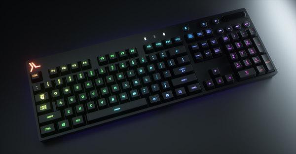 3D octane modeled logitech keyboard