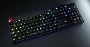 3D octane modeled logitech keyboard