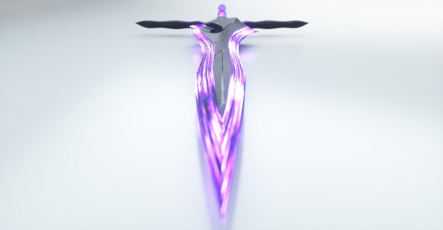sword blade glowing 3D model