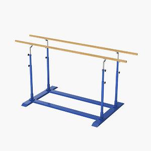 realistic parallel bars model