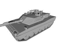 c1 ariete tank 3D model