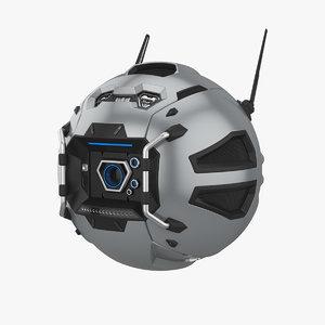 sci-fi drone model