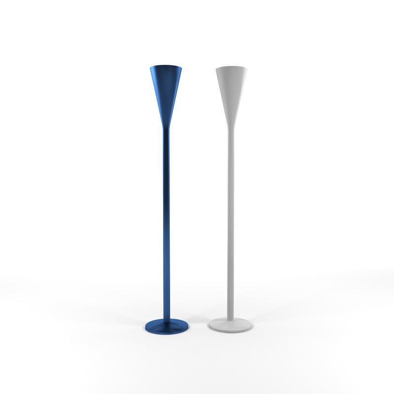3D floor lamps luminator fontanaarte model