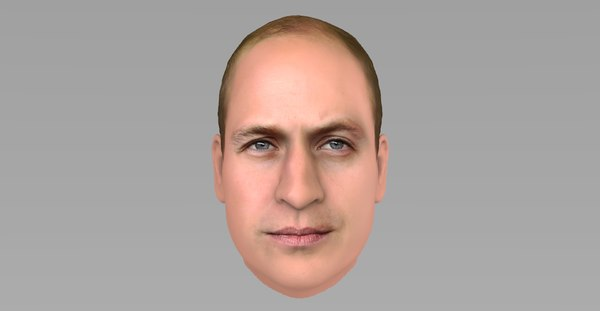 3D head prince william model