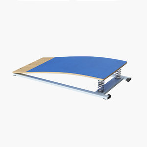 3D realistic gymnastic springboard
