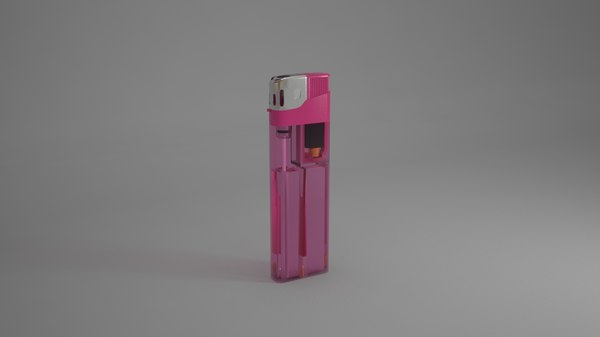 butane lighter 3D model