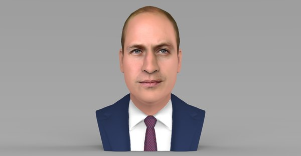 prince william bust ready 3D