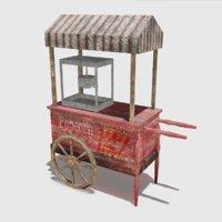 Old popcorn cart