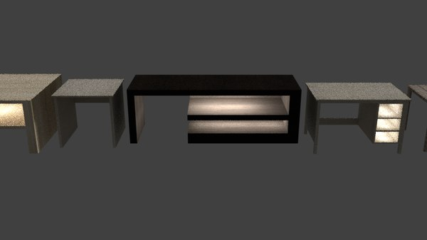 3D model table pack