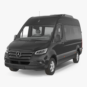 3D mercedes sprinter tourer 2019 model