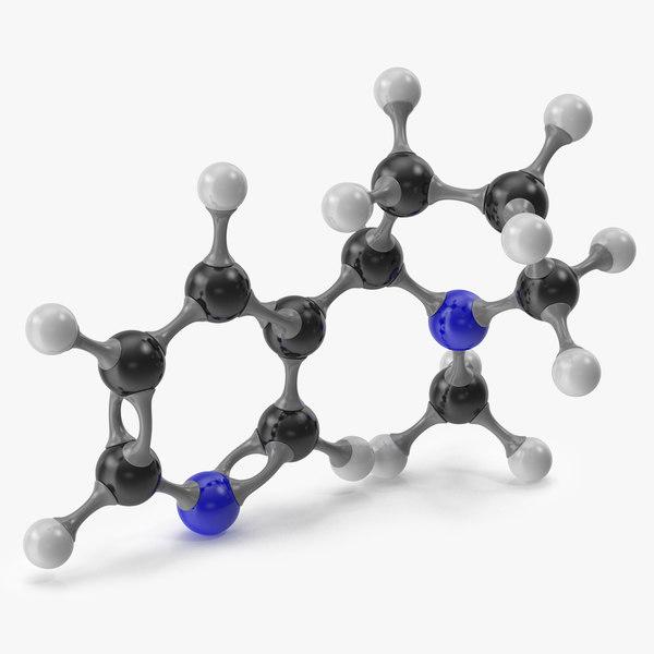 3D nicotine molecular