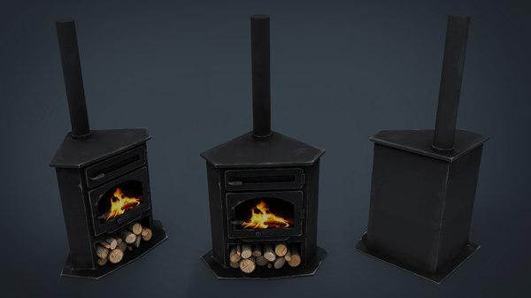 3D corner stove