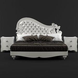 3D bed 558g maestri artigiani model