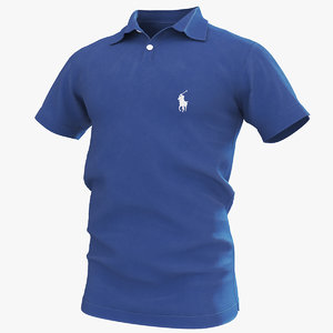 polo shirt blue model