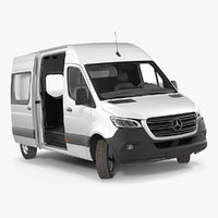3D 2019 mercedes sprinter van
