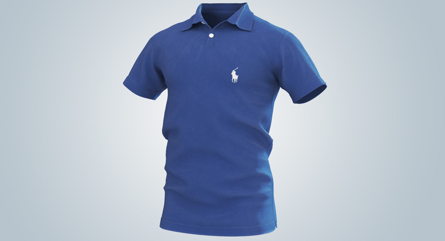 polo shirt blue model