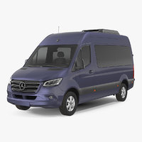 3D mercedes sprinter tourer simple