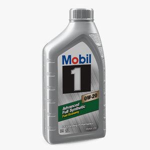 3D motor oil mobil 1l model