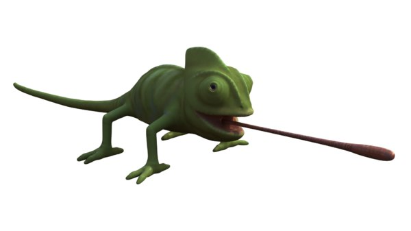 chameleon 3D model