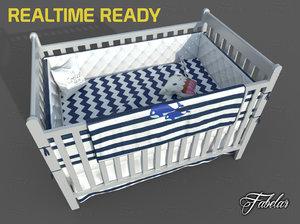 cot bed 3D model