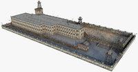3D prison architecture building