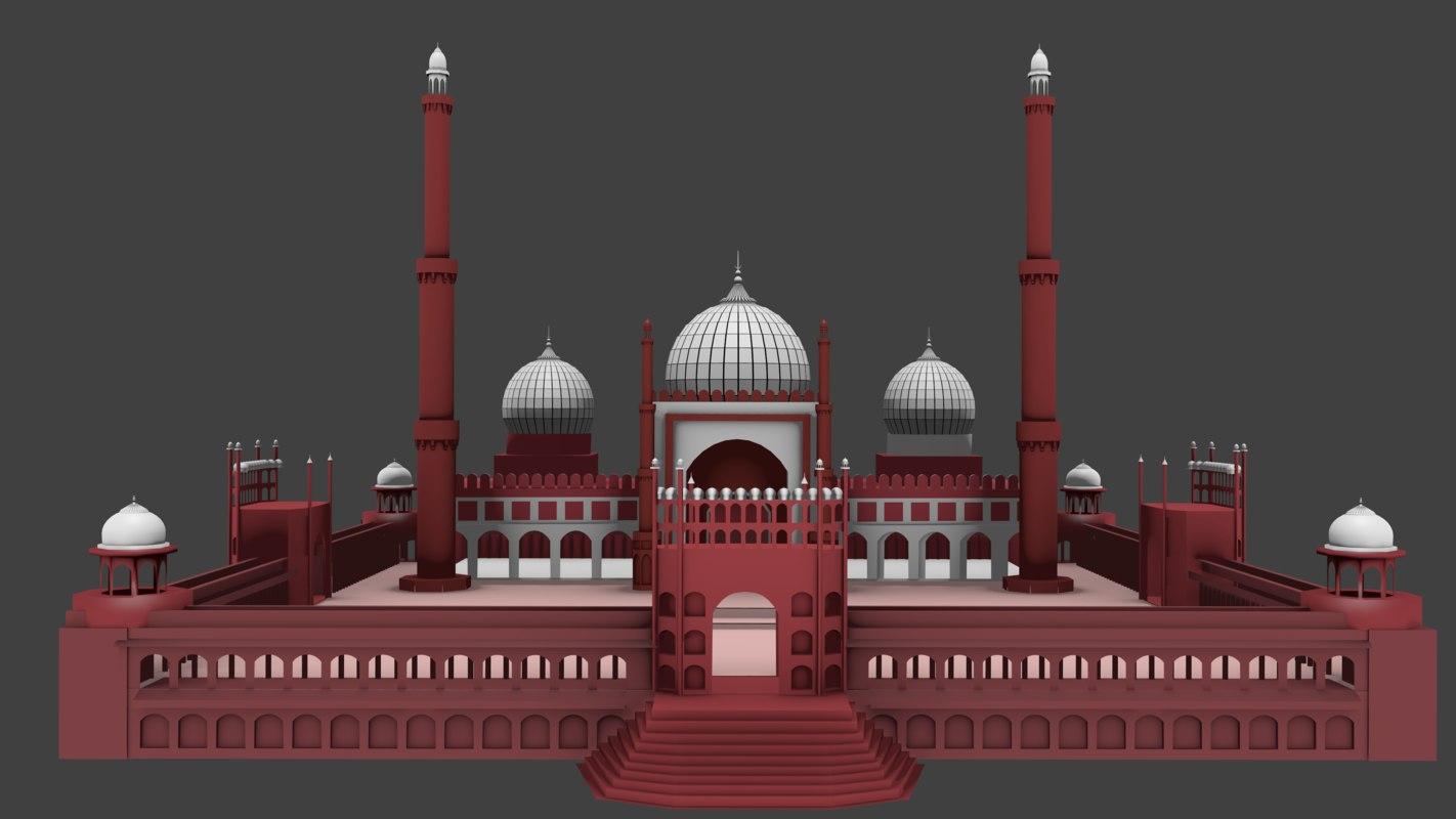 jama masjid 3D model