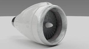 airplane engine ready 3D