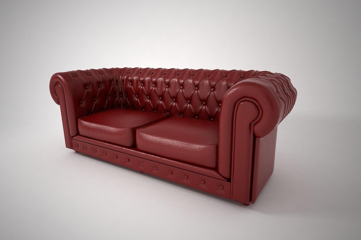 3D model furnishings furniture chair sofa