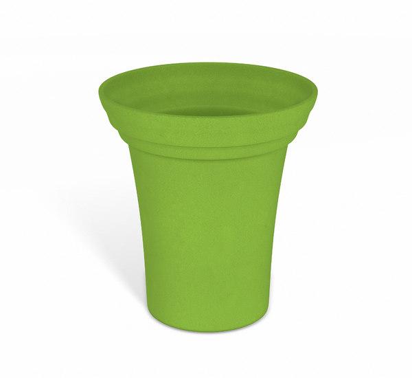 green flower pot 3D model
