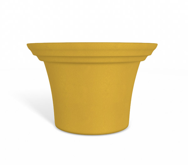 3D orange flower pot