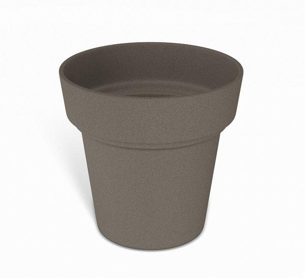 3D model brown flower pot