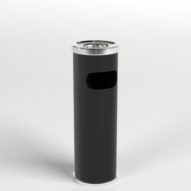 3D outdoor ashtray bin model