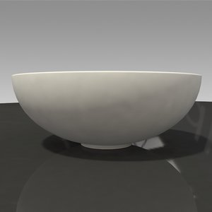 simple white bowl 3D model