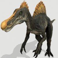 spinosaurus cretaceous model