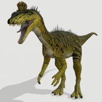 3D cryolophosaurus dinosaurs jurassic